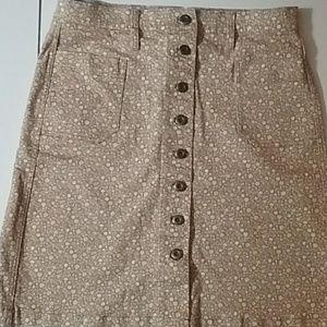 Orvis floral skirt